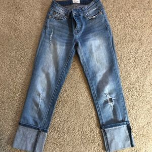 Hudson brand cropped jeans